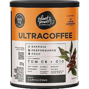 Ultracoffee vegano suplemento sabor cappuccino A tal da castanha 220g
