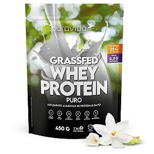 Grassfed whey protein sabor natural Puravida 450g