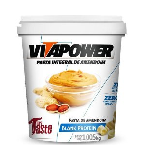 Pasta de amendoim chocolate branco protein Vitapower 1kg