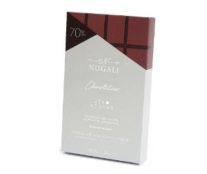 Barra de chocolate 70% zero açúcar Nugali 500g