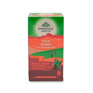 Chá tulsi tummy digestão Organic India 25 saches