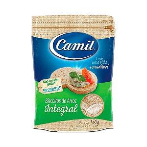 Mini biscoitos de arroz integral Camil 150g