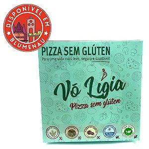 Mini pizza low carb de queijo brie com geleia de pimenta Vó Ligia