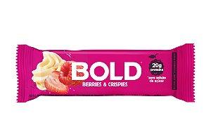 Barra de proteína sabor berries e crispies Bold Bar 60g