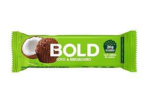 Barra de proteína sabor coco e brigadeiro Bold Bar 60g