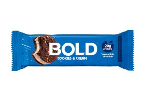 Barra de proteína sabor cookies e cream Bold Bar 60g