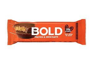 Barra de proteína sabor paçoca com chocolate Bold Bar 60g