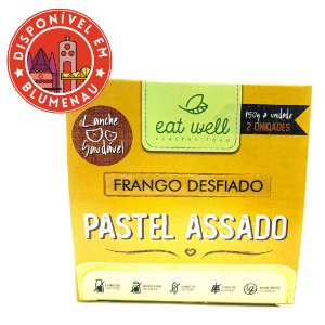 Pastel assado frango desfiado Eat Well 2 unidades