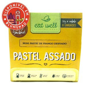 Mini pastel assado de frango desfiado Eat Well 8 unidades