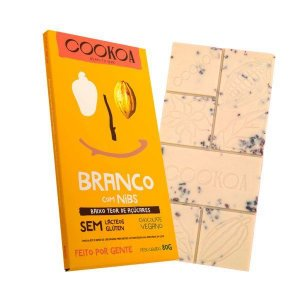 Chocolate branco com nibs Cookoa 80g