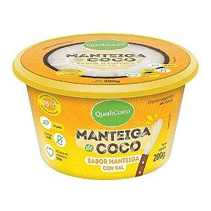 Manteiga de coco sabor manteiga com sal Qualicoco 200g