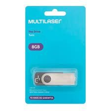 Pen Drive 8gb Multilaser Twist