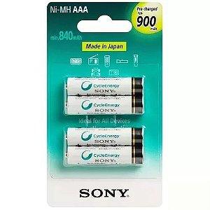 Kit 8 Pilhas Recarregável Sony Aaa Palito 900mah