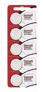 5 Baterias Cr2032 Maxell Lacrado
