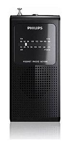 Rádio Philips Portátil Am/fm Ae-1500 Preto