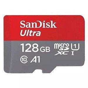 Cartão Micro SD 128gb Sandisk Classe 10 Ultra 100mbs