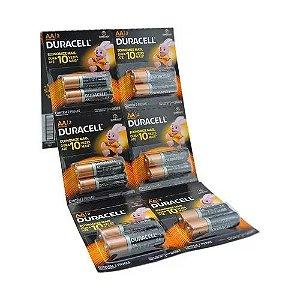 Cartelão 12 Pilhas Duracell AA Alkalina