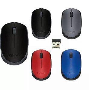 Mouse Usb Óptico Sem Fio Logitech M170 Lacrado