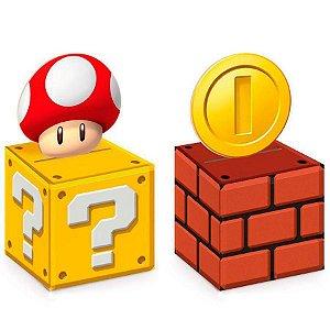 Caixa cubo - Super Mario Bros - 8 unidades