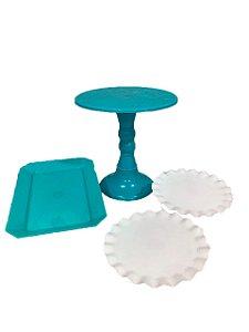Kit Boleira - azul e branca - 4 unidades
