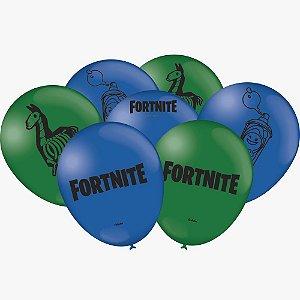 Balão Látex - 9 Polegadas - Fortnite - 25 unidades