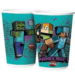 Copo de Papel 180ml - Minecraft- 12 unidades