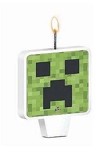 Vela para Aniversário Mini Pixels - 01 unidade