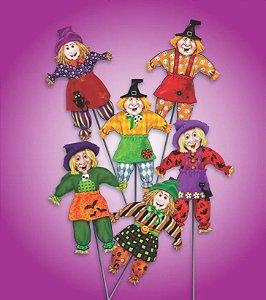 Kit 10 Bruxa Espeto Palito Festa Halloween Dia Das Bruxas