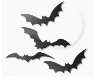 Morcego c/4un plástico - Festa Maluca
