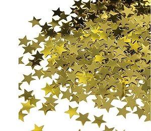 Confetes Estrela Douradas - 20 gramas