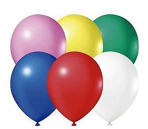 Balão Látex - 9 Polegadas - sortido - 50 unidades