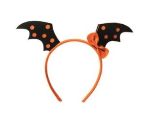 Halloween Tiara Asas Morcego - Laranja ou roxo (sortidas)