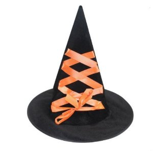 Chapéu de Bruxa com Fita- Laranja
