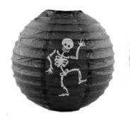 Luminária Halloween Decorada - Esqueleto