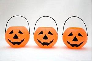 Mini Balde Abóbora Decoração Halloween Lembrancinha Unidade