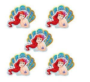 Mini carinha Sereia Ariel - 5un.