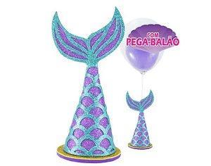 Centro de mesa Sereia com pega balão - Piffer