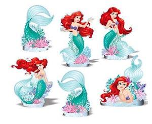 Kit Enfeite Impresso em EVA - Disney Princesa - Ariel -01 unidade - Piffer-