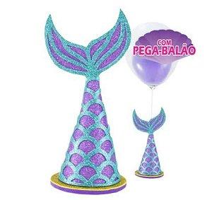 Centro de mesa Ariel Sereia com pega balão - Piffer