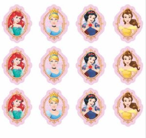 Aplique Impresso para Decoração Festa Princesas Disney em EVA Piffer