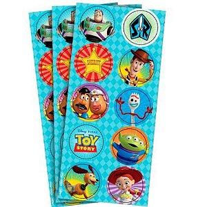 Adesivo Toy Story 4 Redondo 30un.