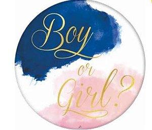 Painel Redondo Gigante .4FL Chá revelação - Boy or Girl