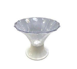 Promoção 2 Taças Diamante Transparente Com Base branco ou Dourado