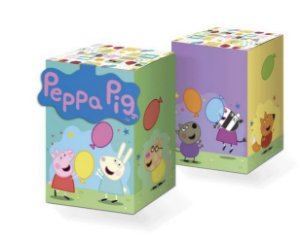 Caixa Surpresa Quadrada com Aplique Peppa Pig Clássica