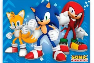 Painel Gigante Tnt Festa Aniversário Sonic 1,40m X 1,03m