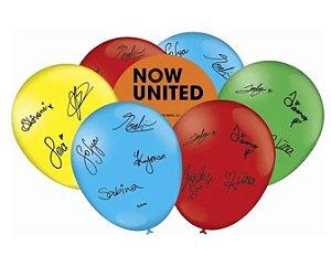 Balão N°9 C/25un Decorado Now United - Festcolor