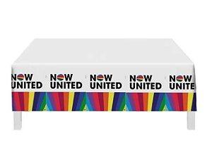 Toalha Plástica Now United 1,20m X 1,80m Decoração De Festa
