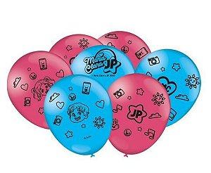 Balão Personalizado Maria Clara e JP - Pct 25 unidades