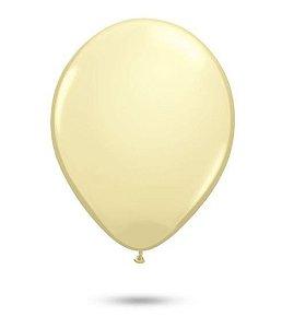Balão Látex 9 Polegadas - Marfim - 50 unidades