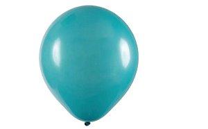 Balão Látex - 9 Polegadas - Azul Turquesa - 50 unidades